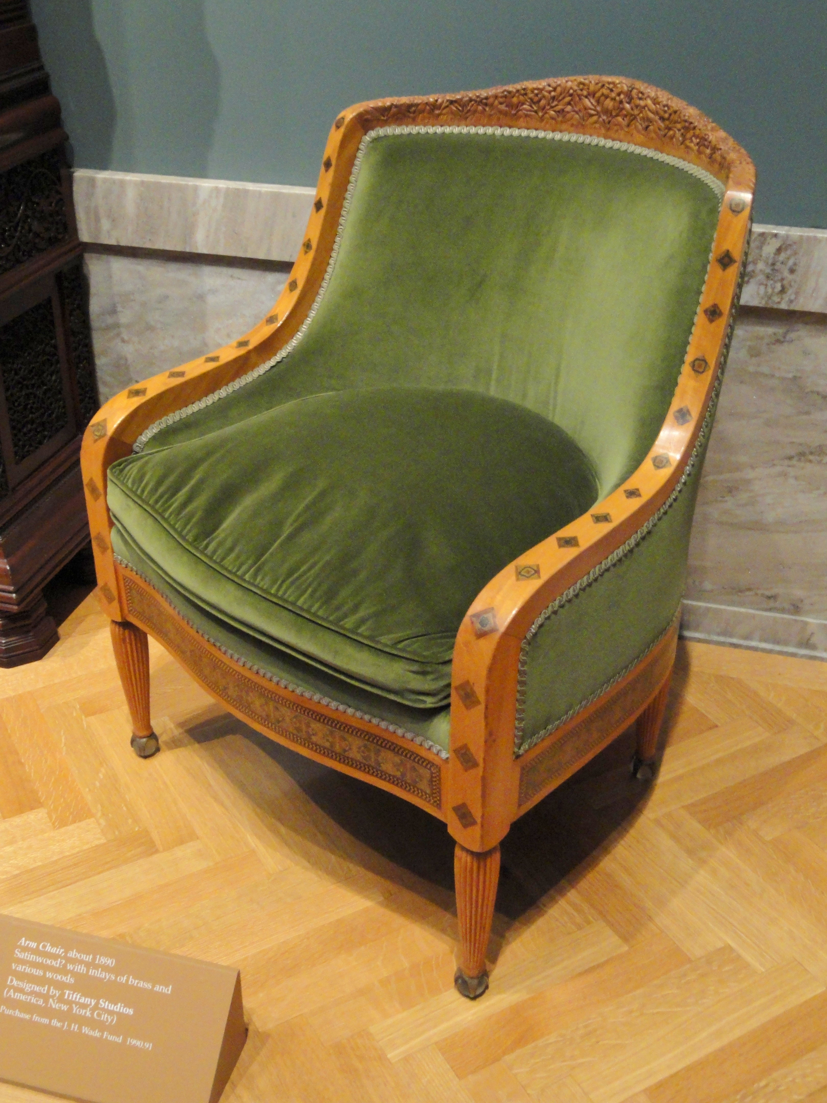 Fauteuils Tiffany File Arm Chair About 1890 Tiffany Studios New York Cleveland