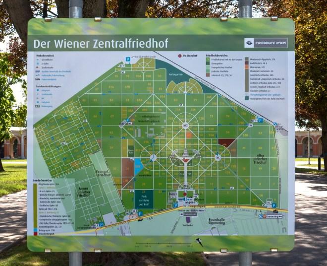 Übersichtskarte Wiener Zentralfriedhof