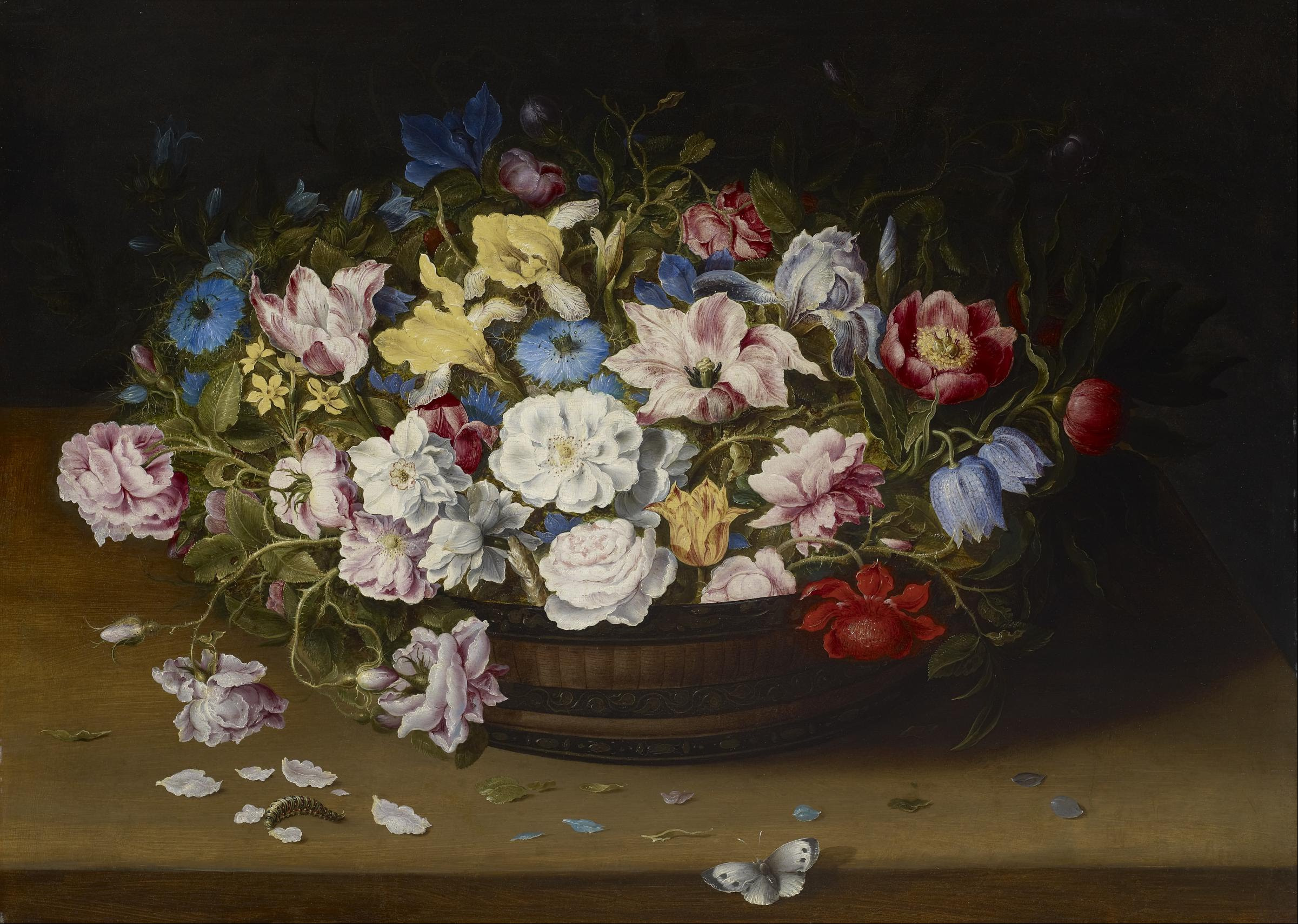 Pittori Fiamminghi National Gallery File Osias Beert Basket Of Flowers Google Art Project