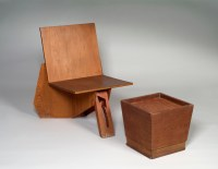 File:Frank Lloyd Wright, Chair and Stool.jpg - Wikimedia ...