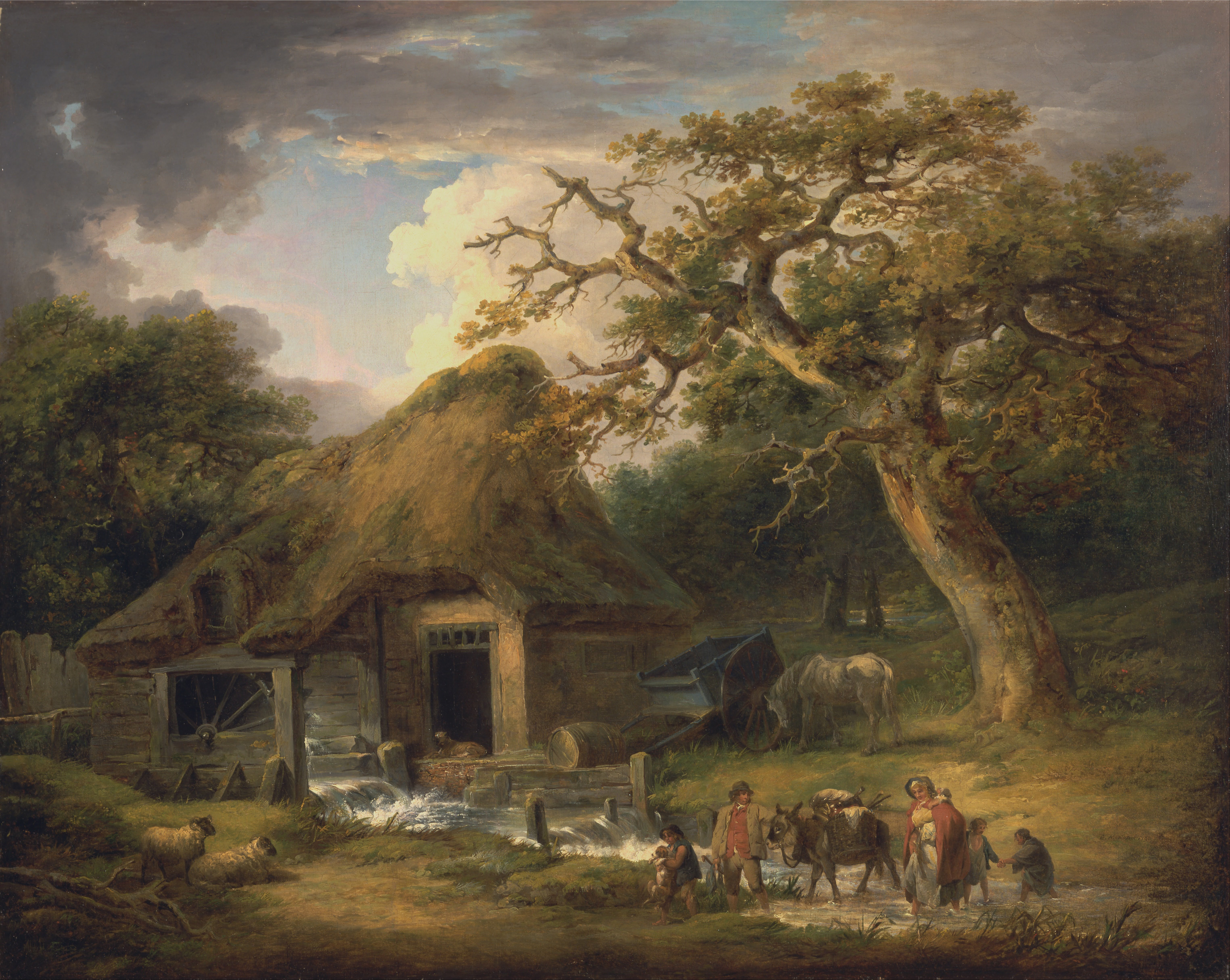 Horses In The Fall Wallpaper File George Morland The Old Water Mill Google Art