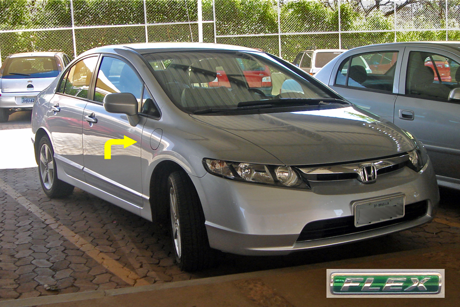 FileBrazilian Honda Civic Flex car 09 2008 logo  secondary gas
