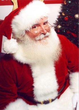 Photo of Jonathan G. Meath portraying Santa Claus.