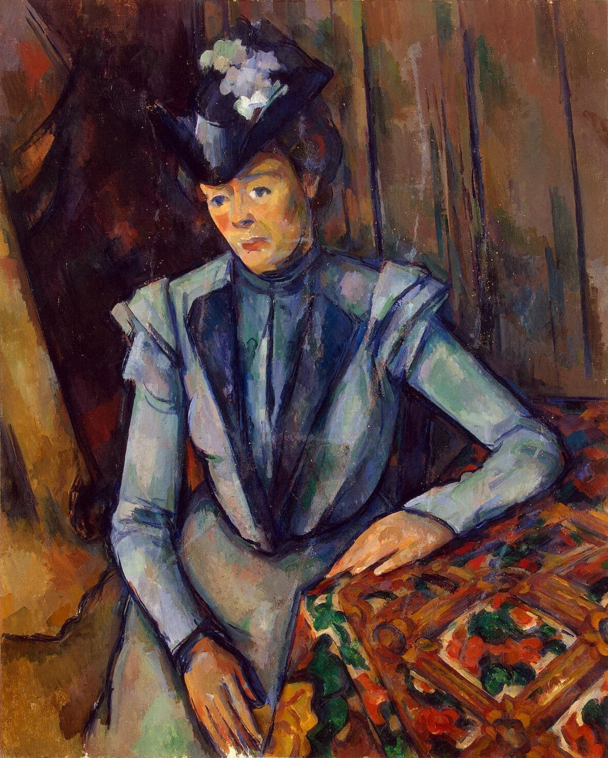 Pintura Postimpresionista Lady In Blue Wikidata