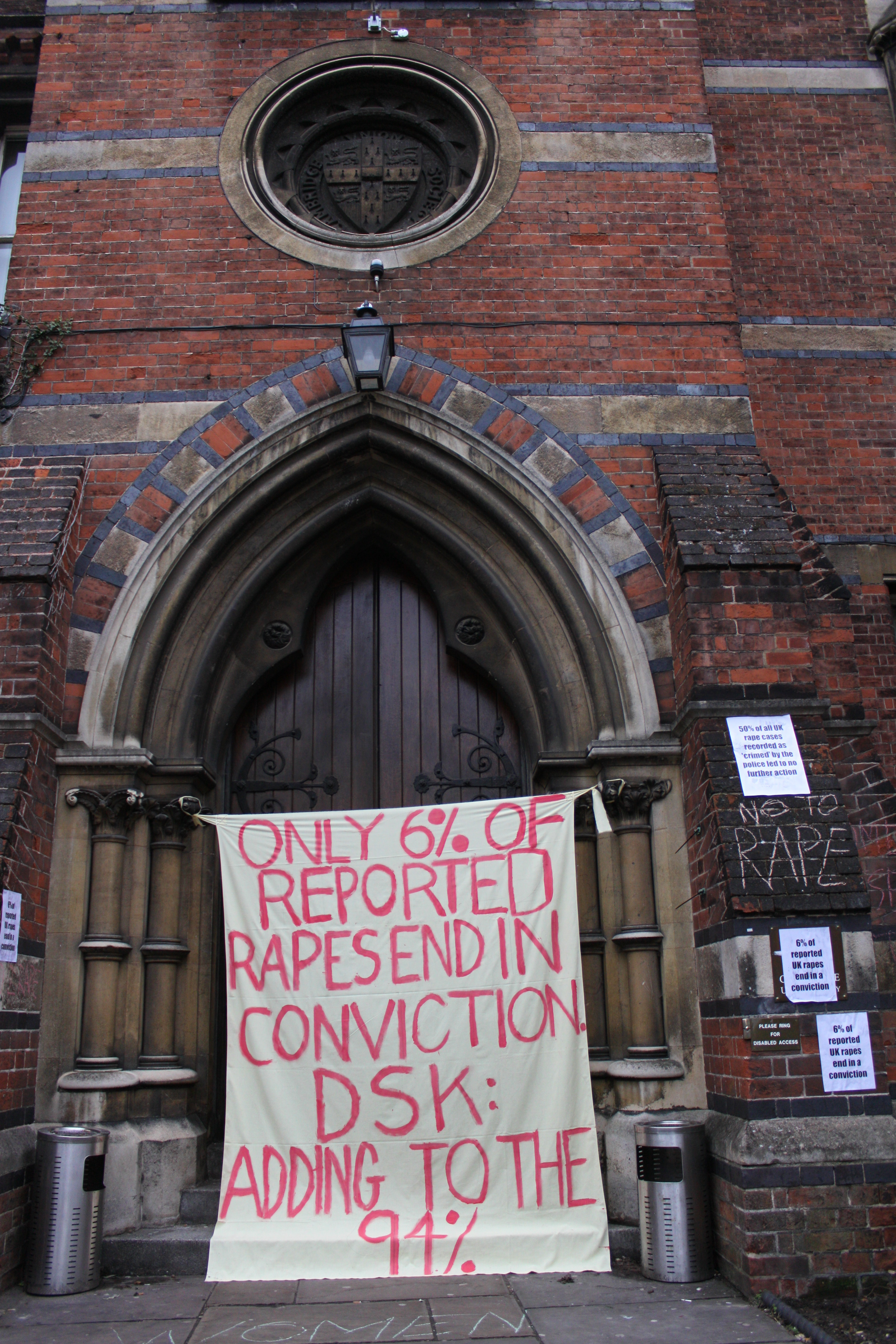 Dsk Doors File Protest Against Dsk At The Cambridge Union Society