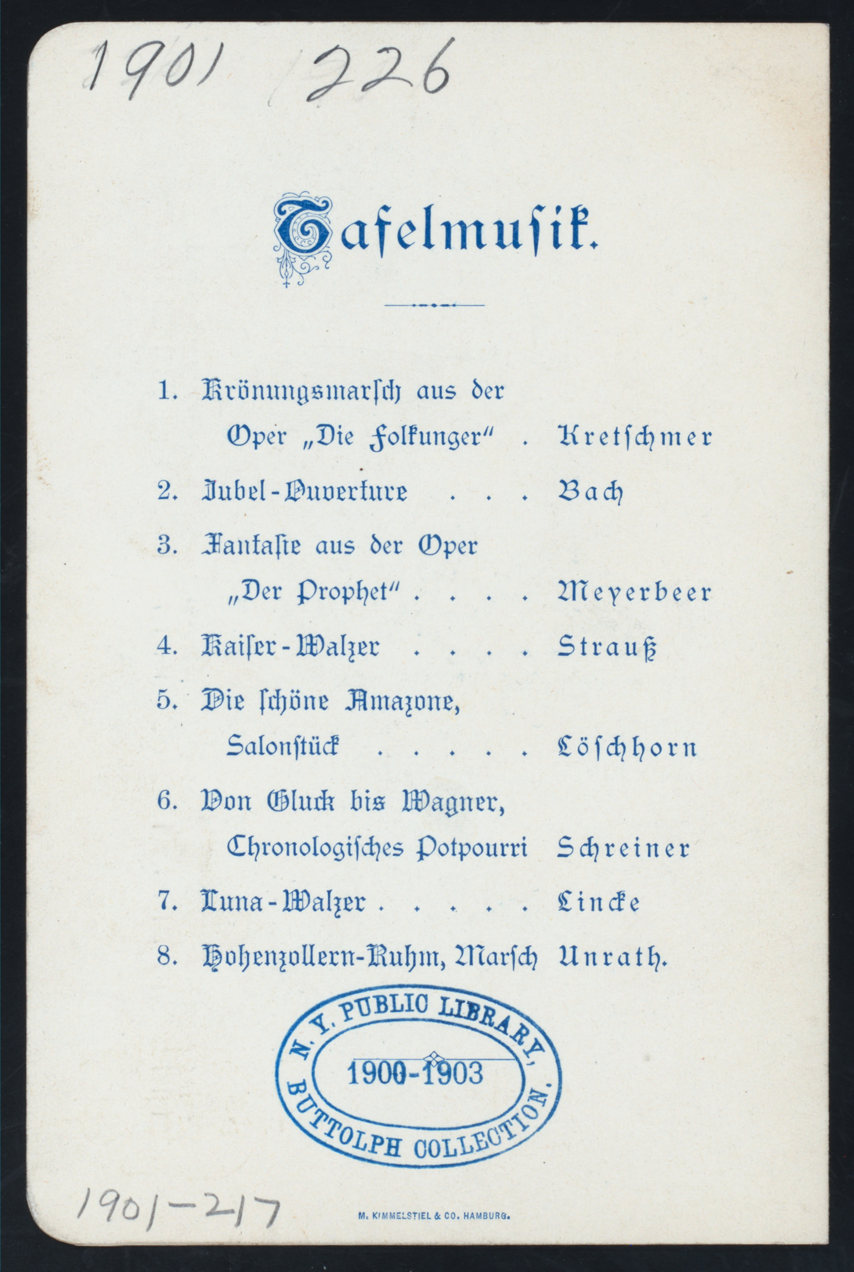 Schreiner Hamburg File Daily Menu Held By Restaurant Zoologischer Garten At