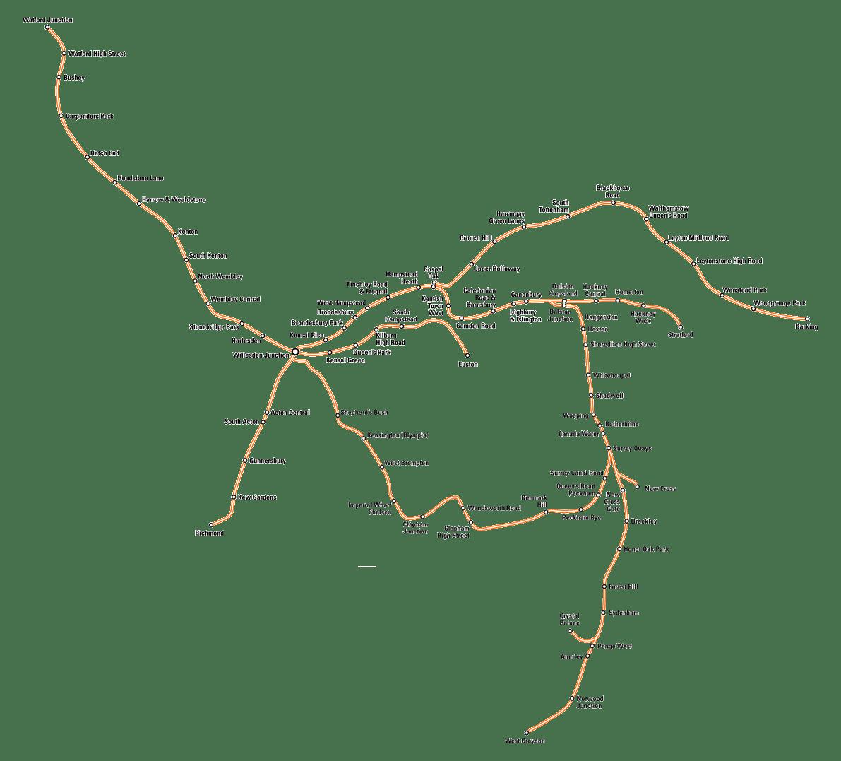 London Overground Map