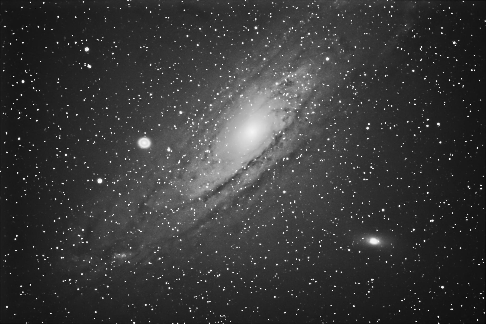 Black And Gray Wallpaper File Andromeda Galaxy Messier 31 M31 Or Ngc 224
