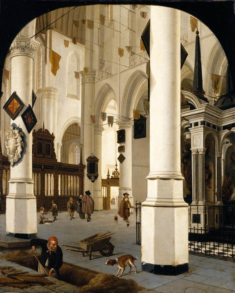 Schilderij Interieur Kerk File:hendrick Cornelisz. Van Vliet - The Interior Of The