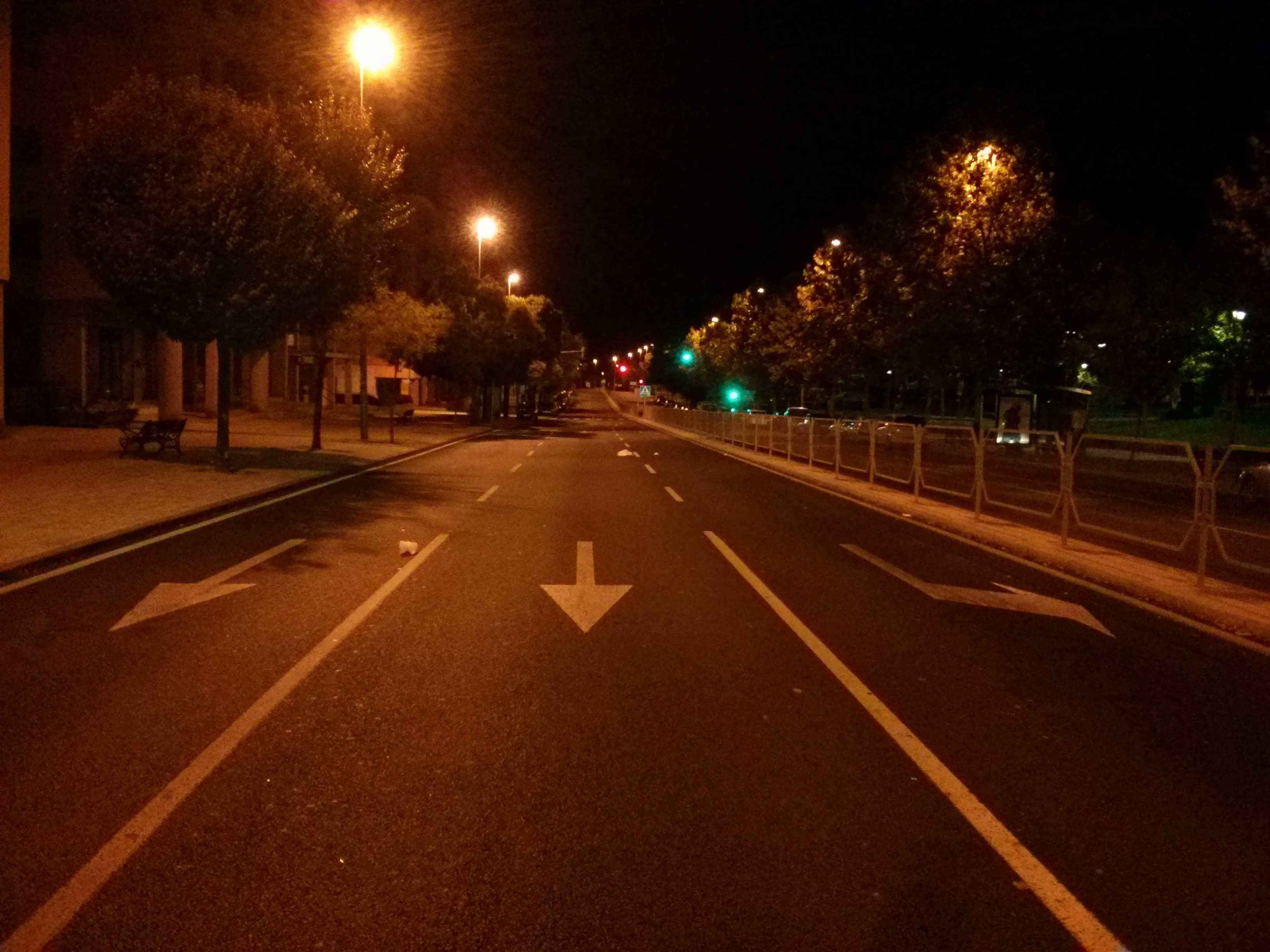 Car Hdr Wallpaper File Empty Road At Night Jpg Wikimedia Commons