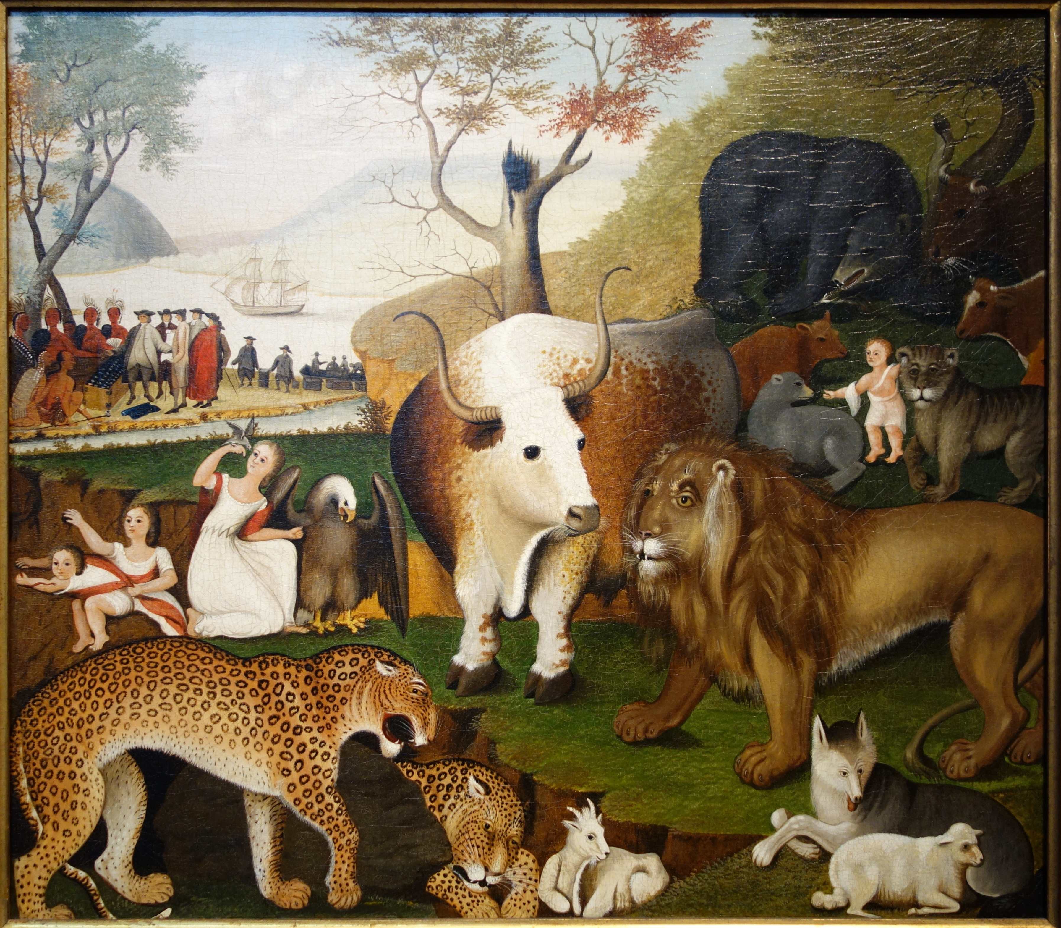 Canvas Artwork File:the Peaceable Kingdom By Edward Hicks, C. 1846, Oil
