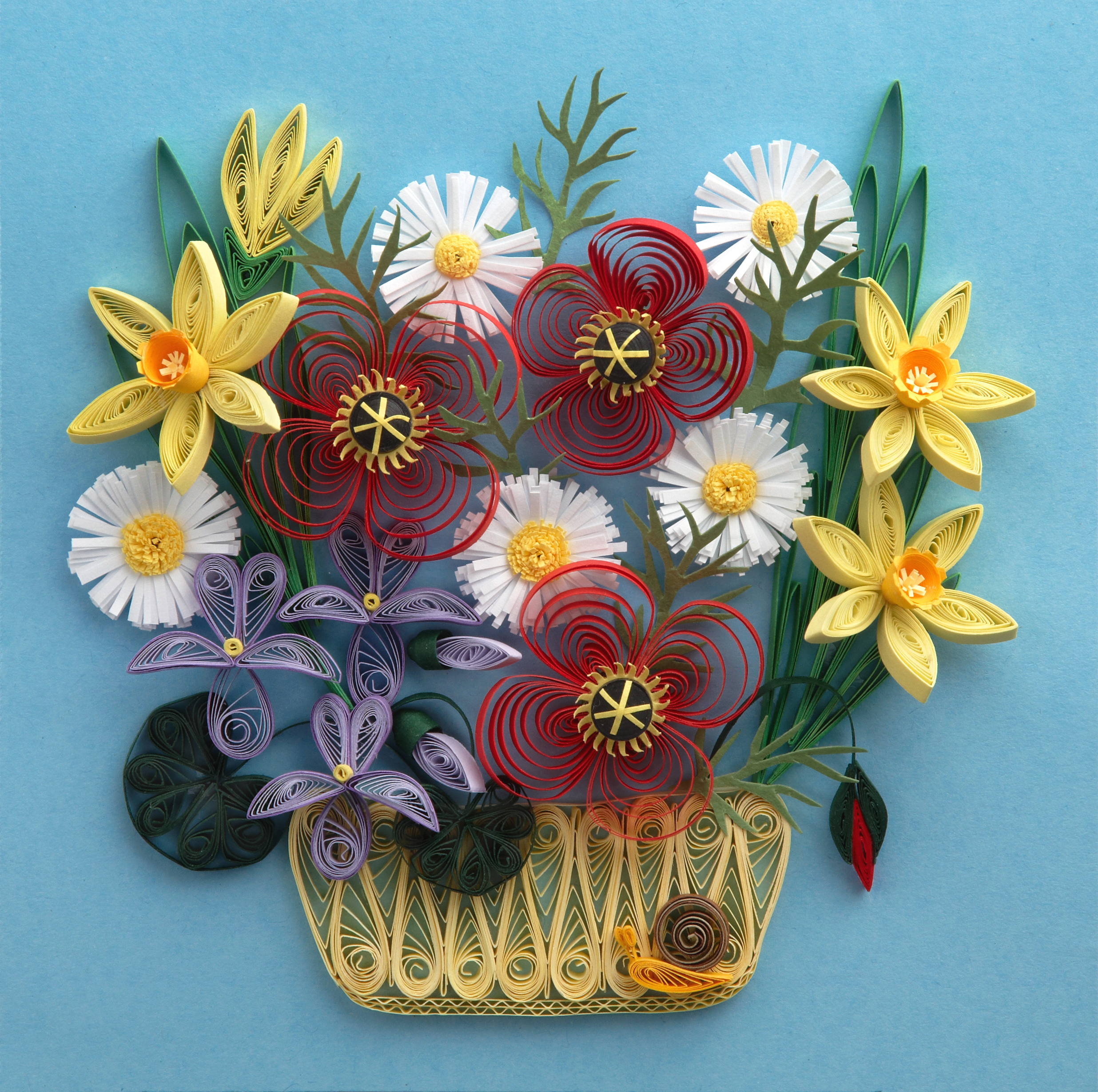 paper quilling flower patterns