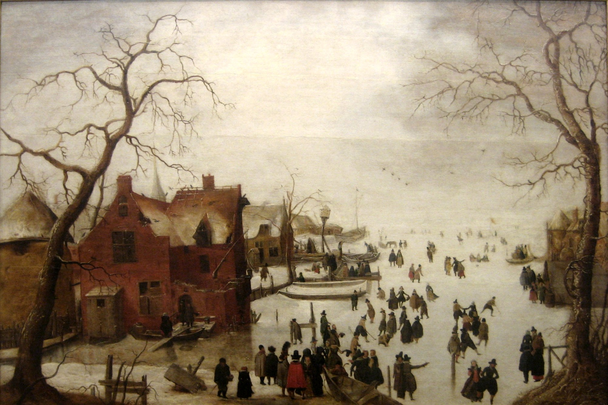 Pittori Fiamminghi National Gallery File 39winter Scene 39 Oil On Panel Painting By Hendrick