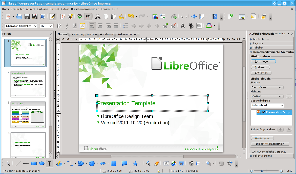 Libre Office Datei Libreoffice 3 4 Impress Withcontent German Fedora 16 Png