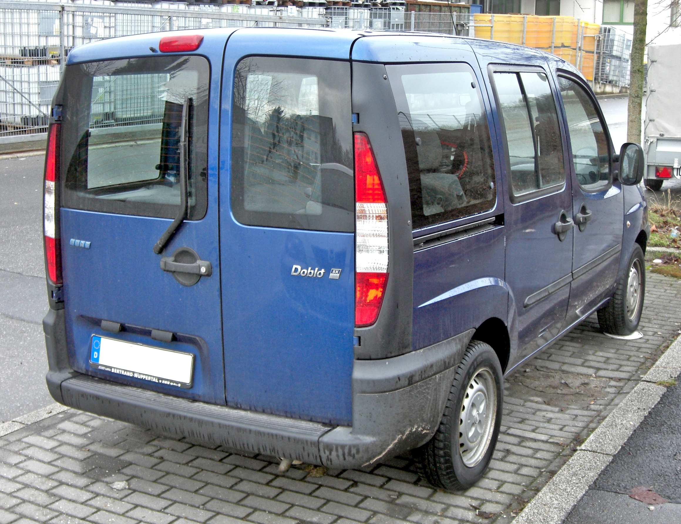 Fiat Wuppertal File Fiat Doblo Rear Jpg Wikimedia Commons