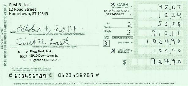 Deposit slip - Wikipedia - pay in slips
