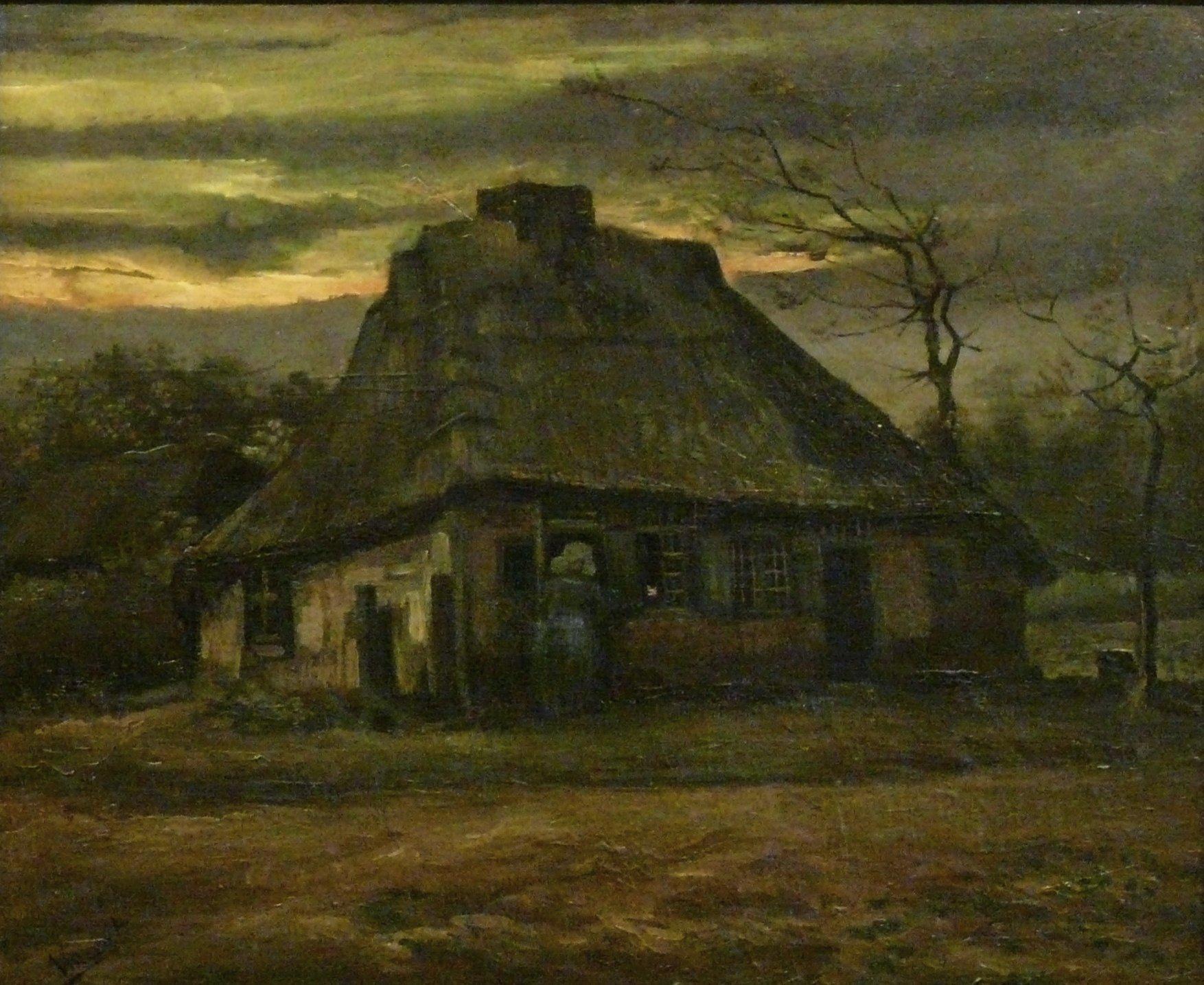 Fall Sunset Wallpaper File Wlanl Jankie De Hut Vincent Van Gogh 1885 Jpg