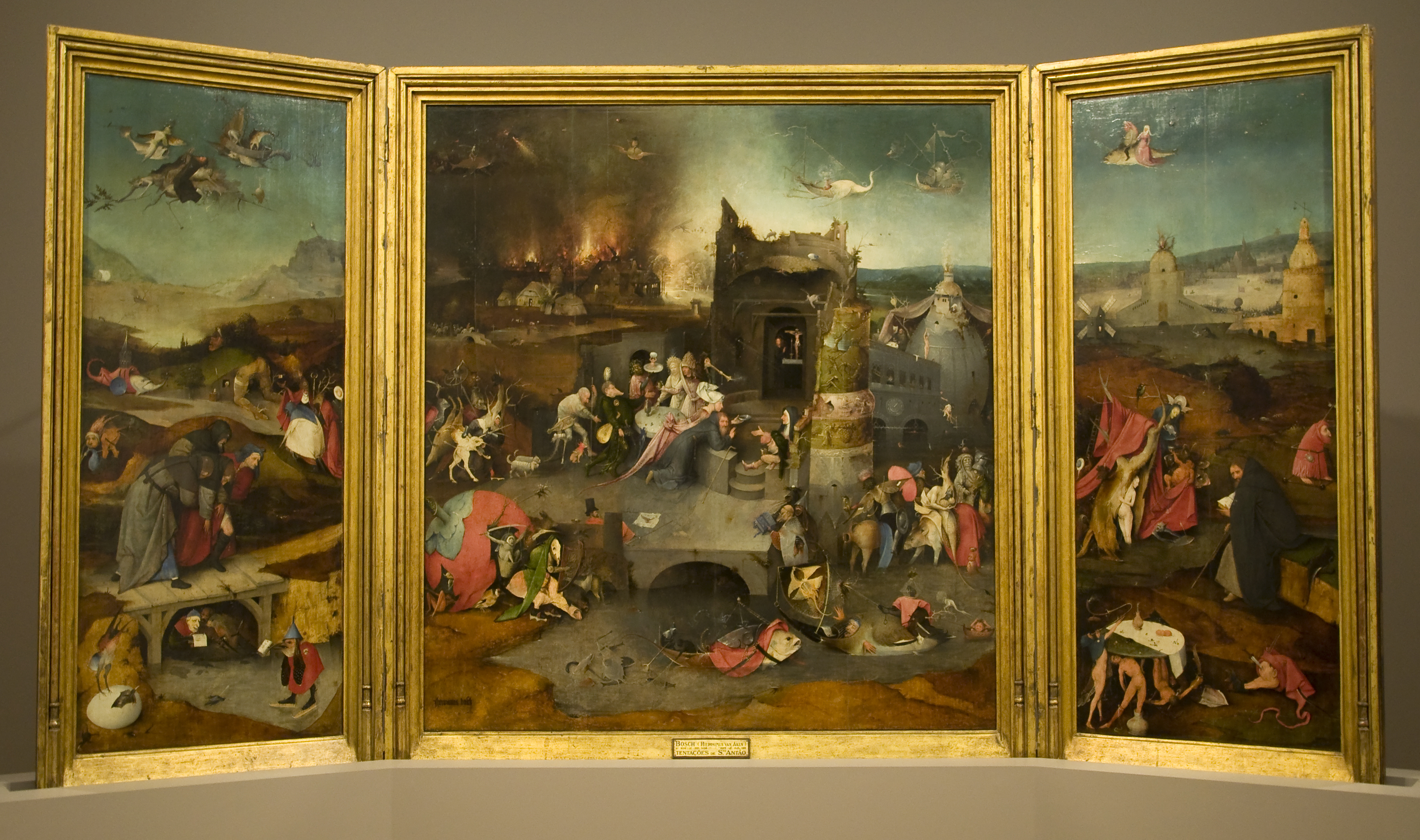 Arte Wikipedia It Triptych Of The Temptation Of St Anthony Wikipedia