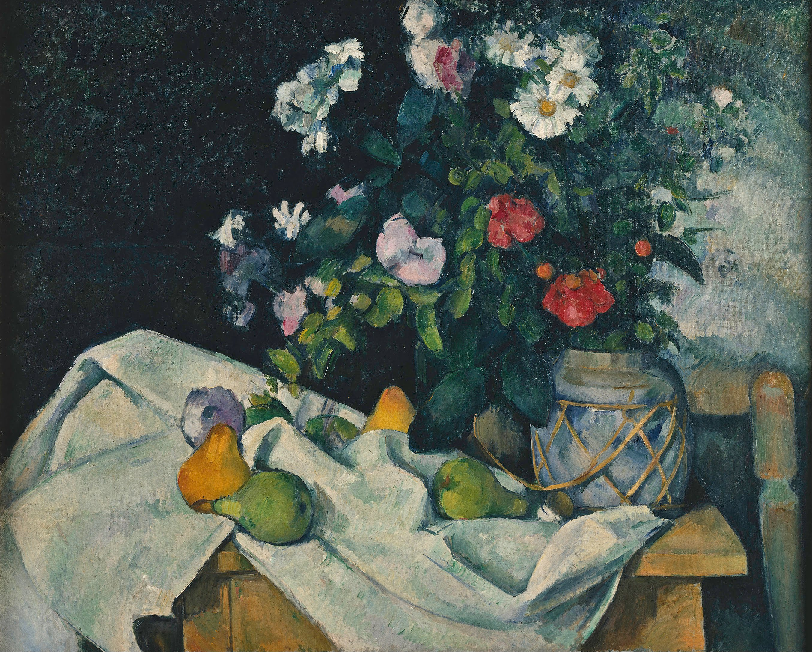 Un Pot De Fleur Datei Paul Cézanne Fleurs Dans Un Pot De Gingembre Et Fruits