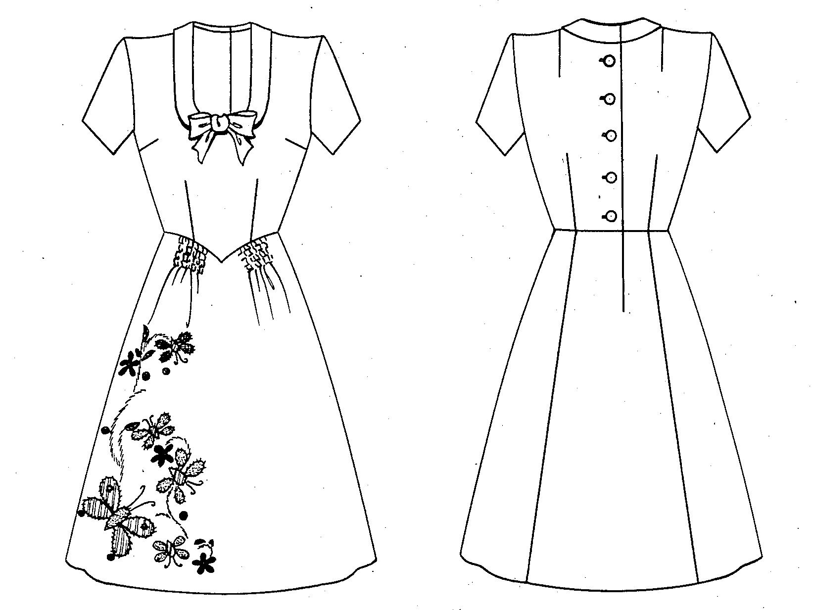 Fileemily Wilkens Patent Drawing For A Dress With