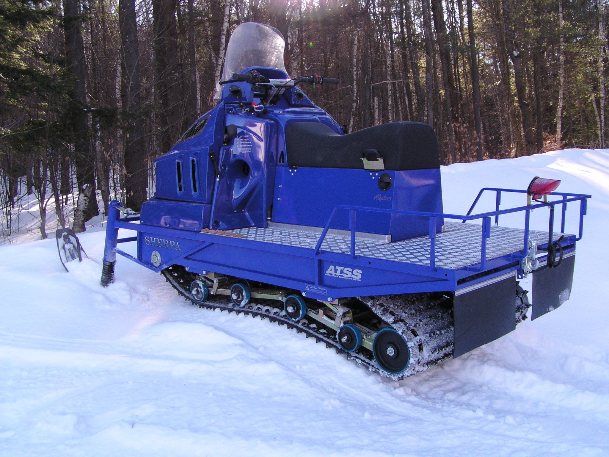 Dual Track Snowmobile