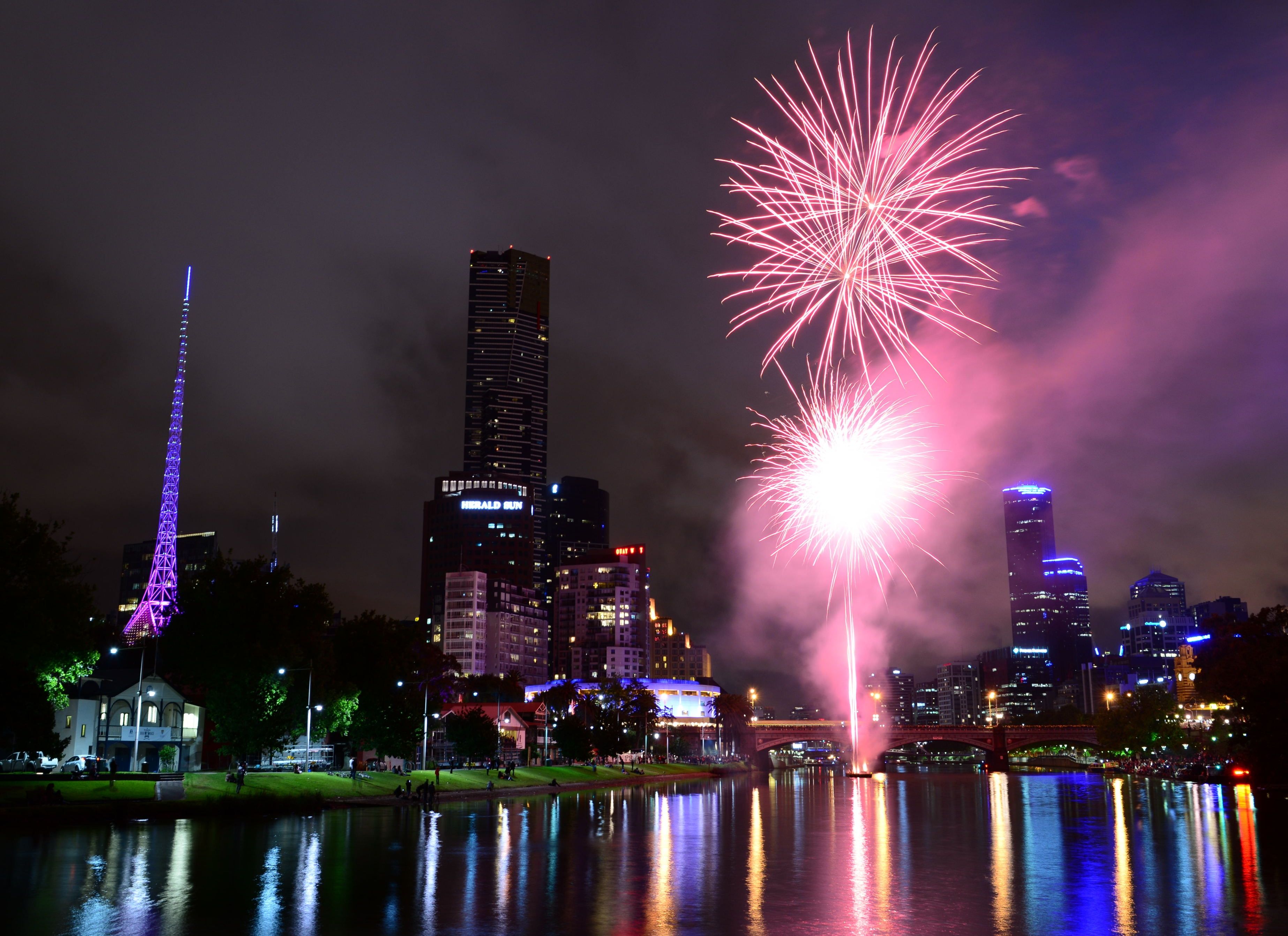 New Year 2014 Hd Wallpapers File Diwali Fireworks Melbourne 10493135276 Jpg