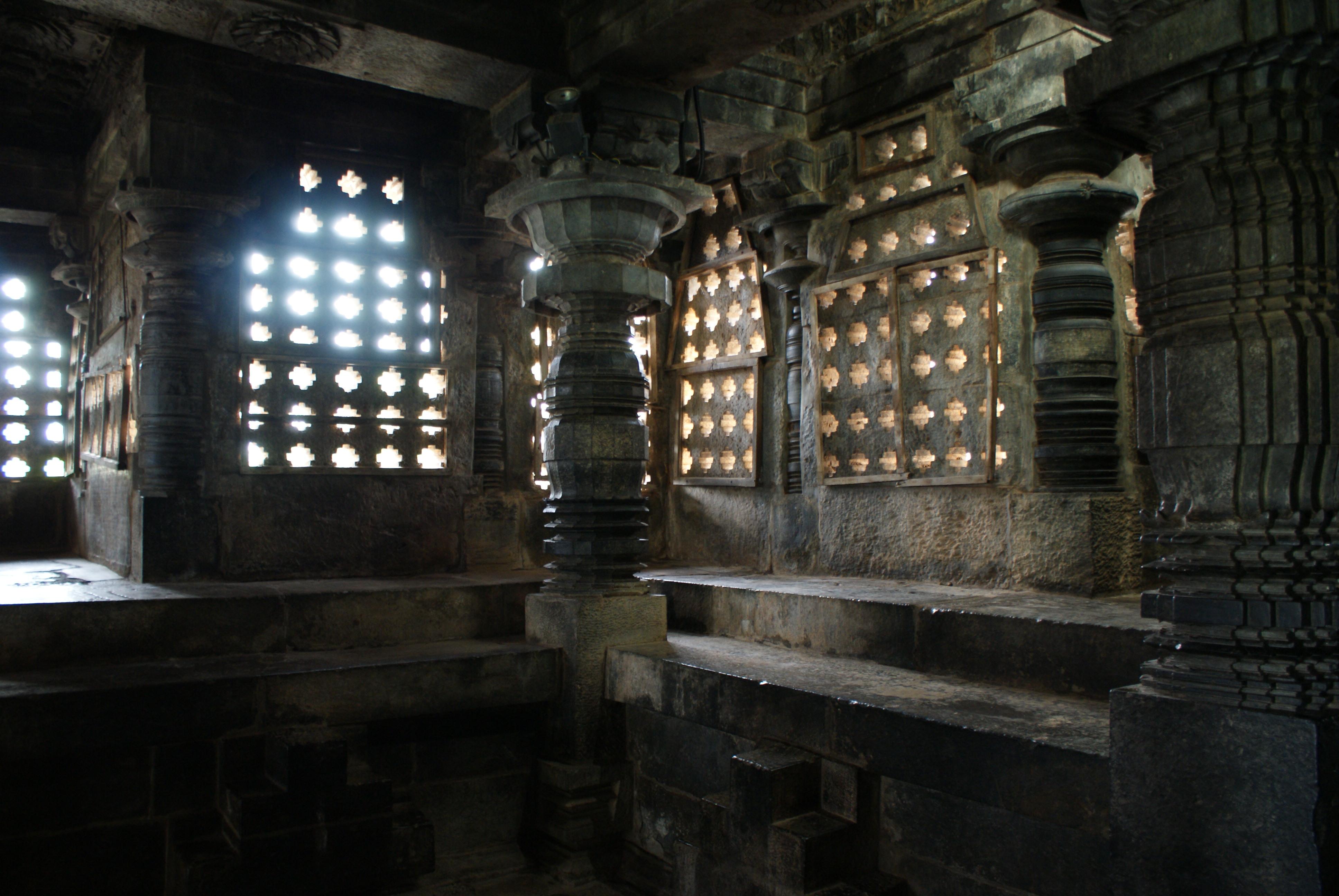 3d Wallpaper For Home Wall India File Halebid Hoysaleshwara Temple Interior Jpg Wikimedia