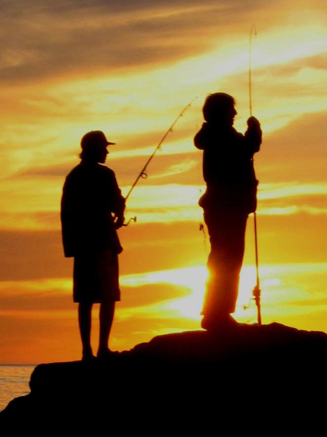 Fishing Girl Wallpaper File Fishing At Sunset Pacific Ocean California