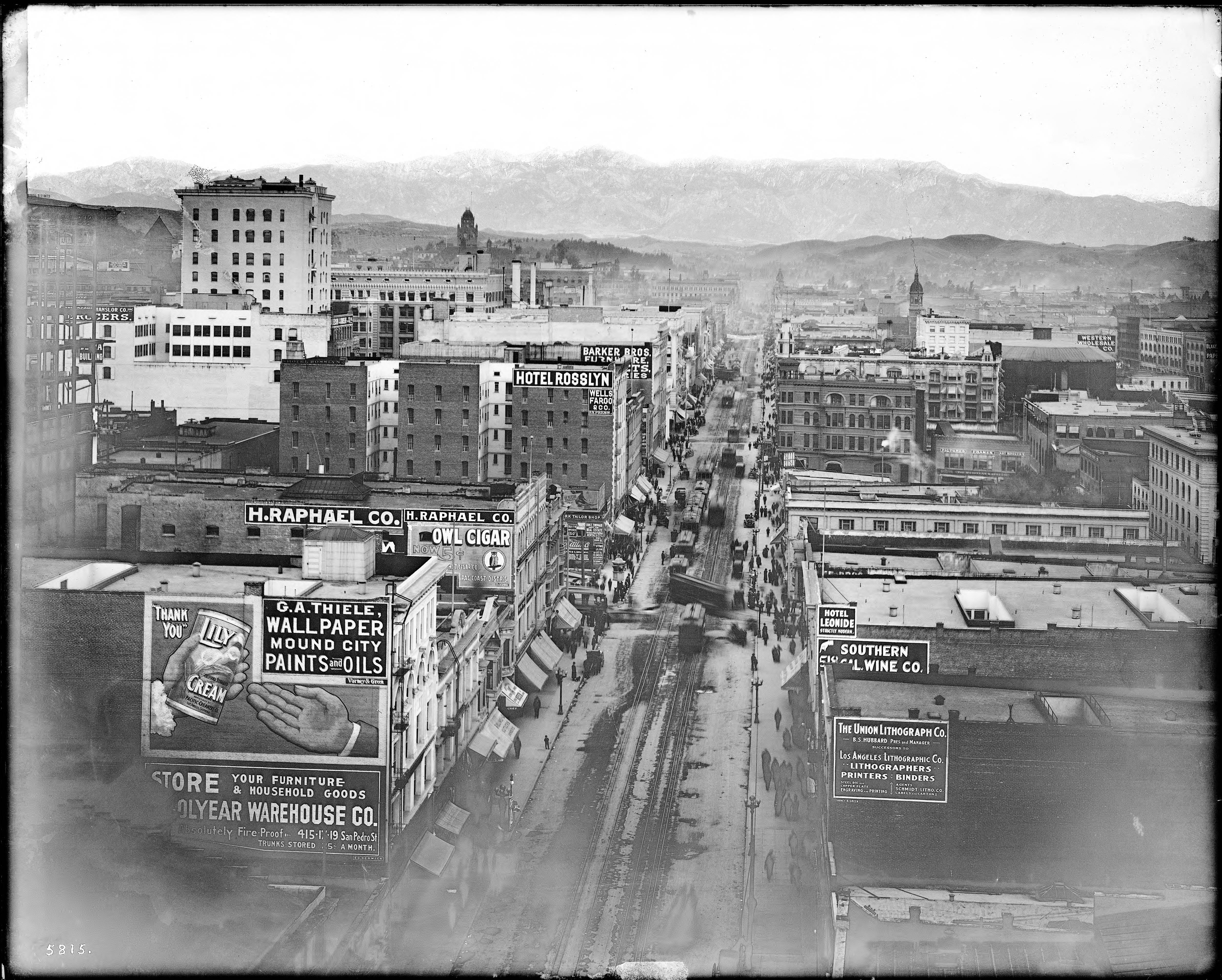Free Wallpaper Old Cars File View Of Main Street Looking North From The Pacific