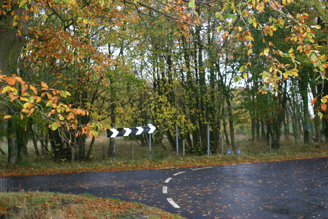 Rainy Fall Wallpaper File Sharp Bend Nice Trees Raining Geograph Org Uk