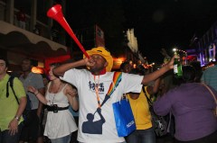Vuvuzela blower, Final Draw, FIFA 2010 World Cup