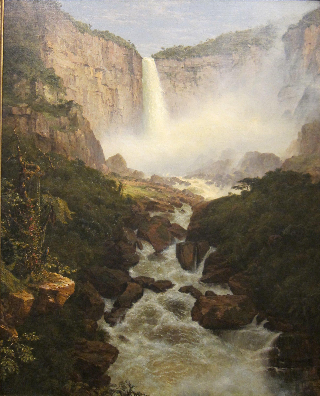 Early Fall Hd Wallpaper File Frederic Edwin Church Tequendama Falls Near Bogota