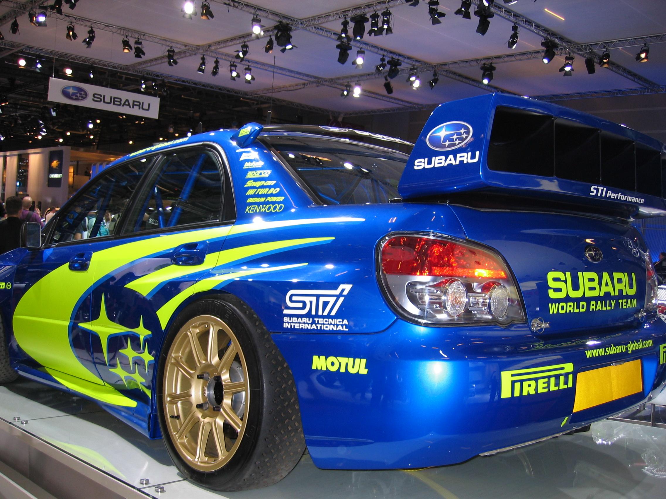 Ken Block Cars Wallpaper File Subaru Wrx Sti Rally Car At The 2006 Paris Auto Show