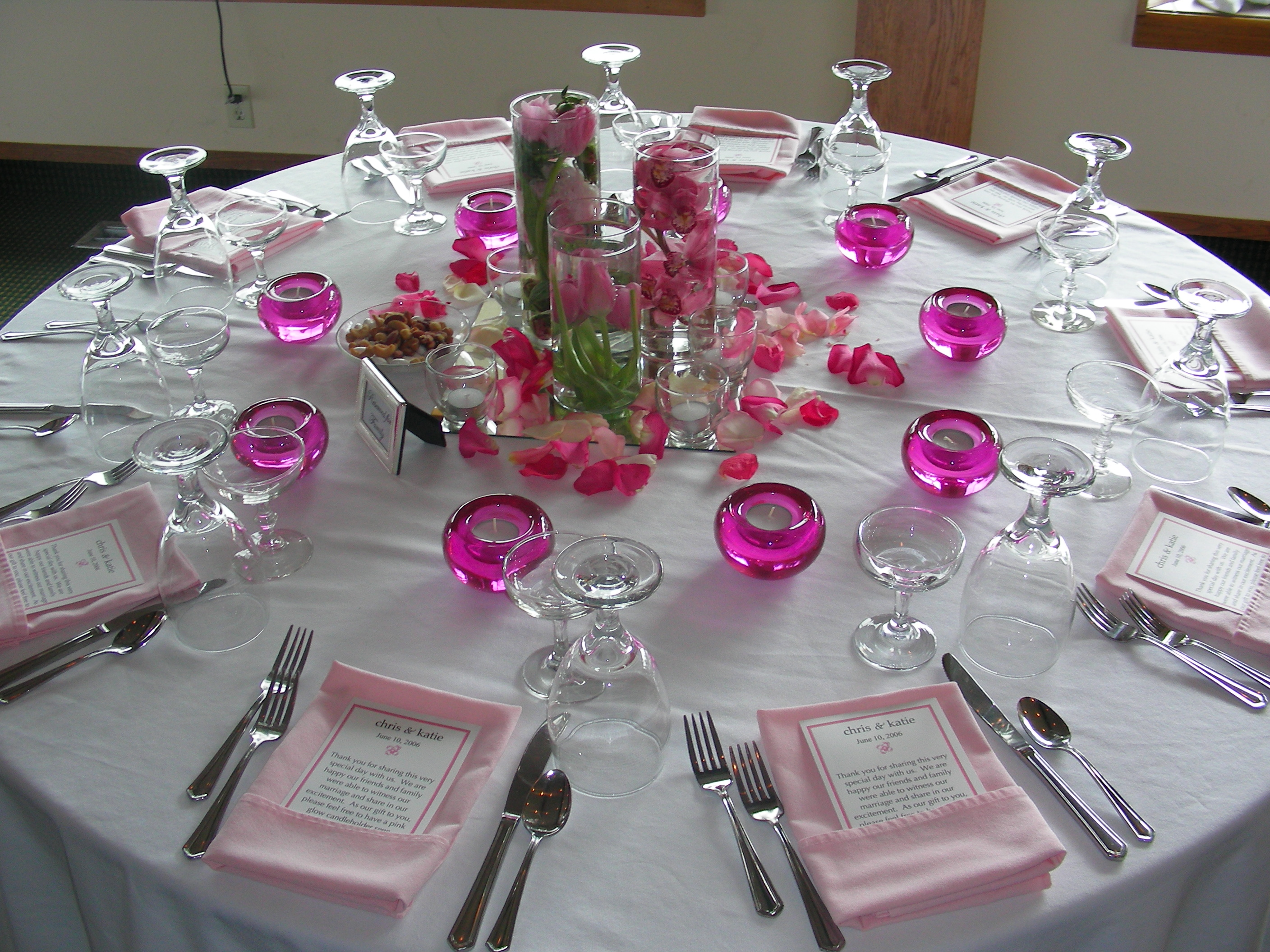 Table Decor Wedding Banquet Romantic Decoration