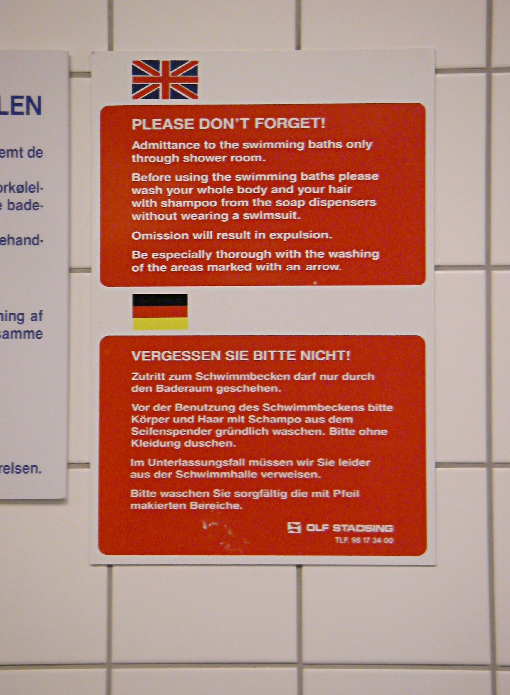Duschen In English File Dgi Byen Vandkulturhuset Bathing Hygiene English Jpg