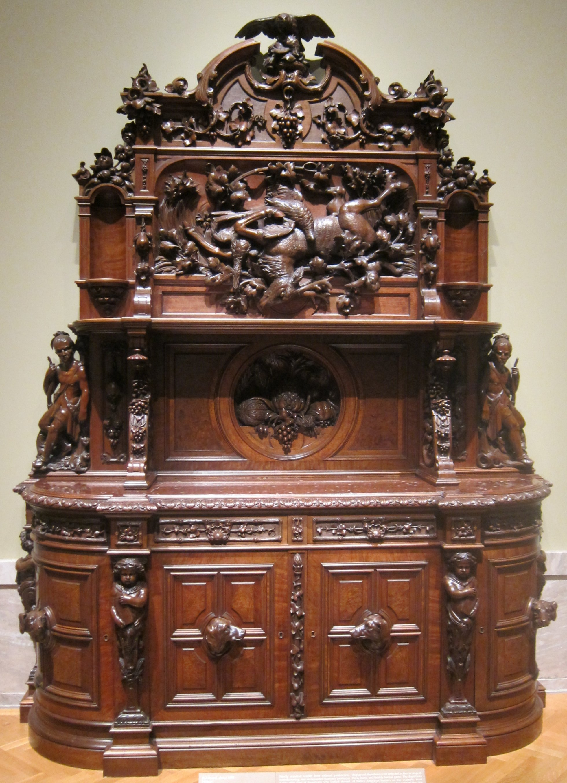 Meubles Henri 2 Fichier Walnut Sideboard Attributed To Joseph Alexis Bailly