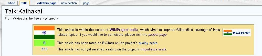 FileWikiProject India talk page template (Importance unassessed
