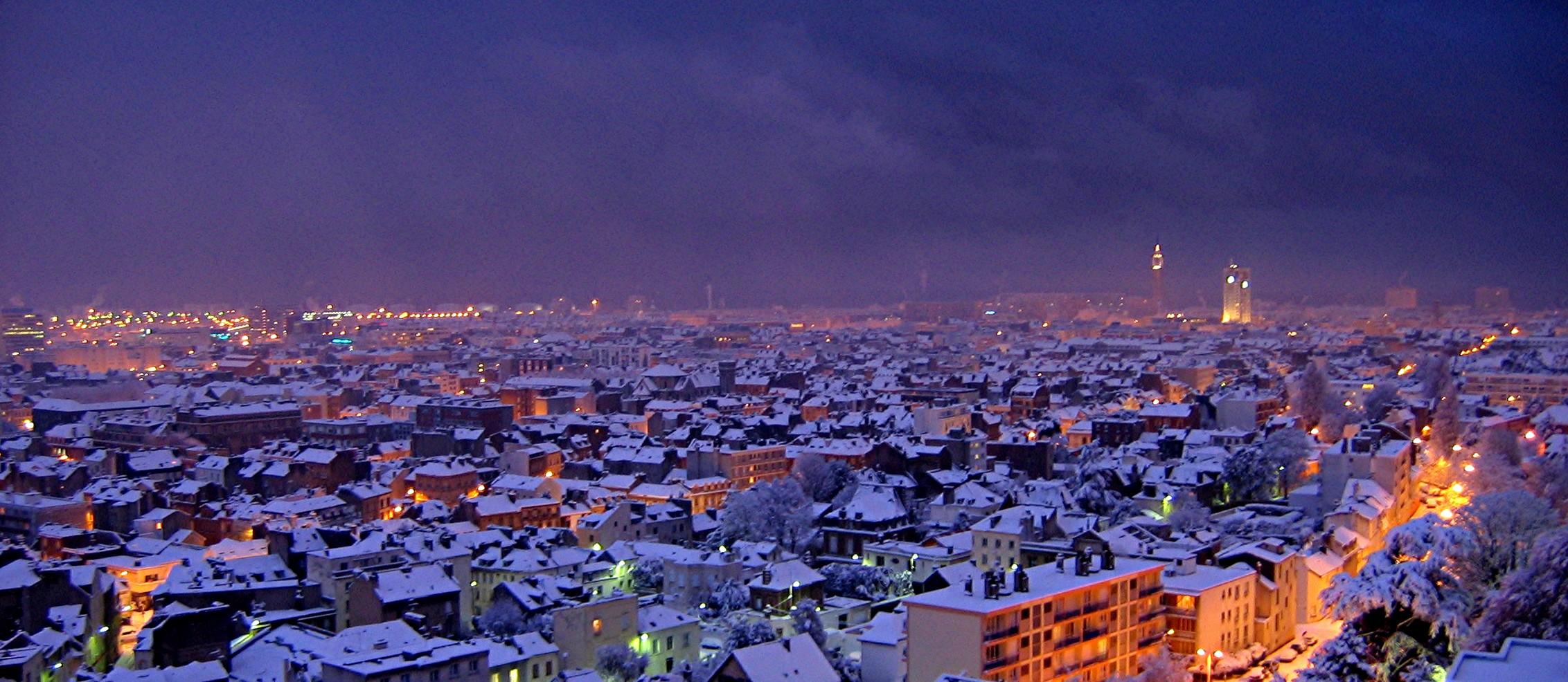 Night View Hd Wallpaper File Neige Le Havre France 20051228 02 Jpg Wikimedia