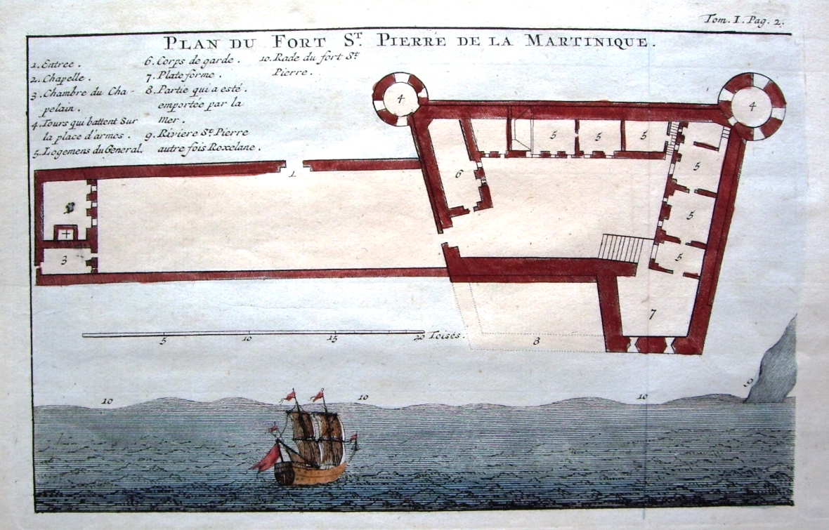 Pierre De Plan File Plan Du Fort Saint Pierre De Martinique En 1742 Jpg