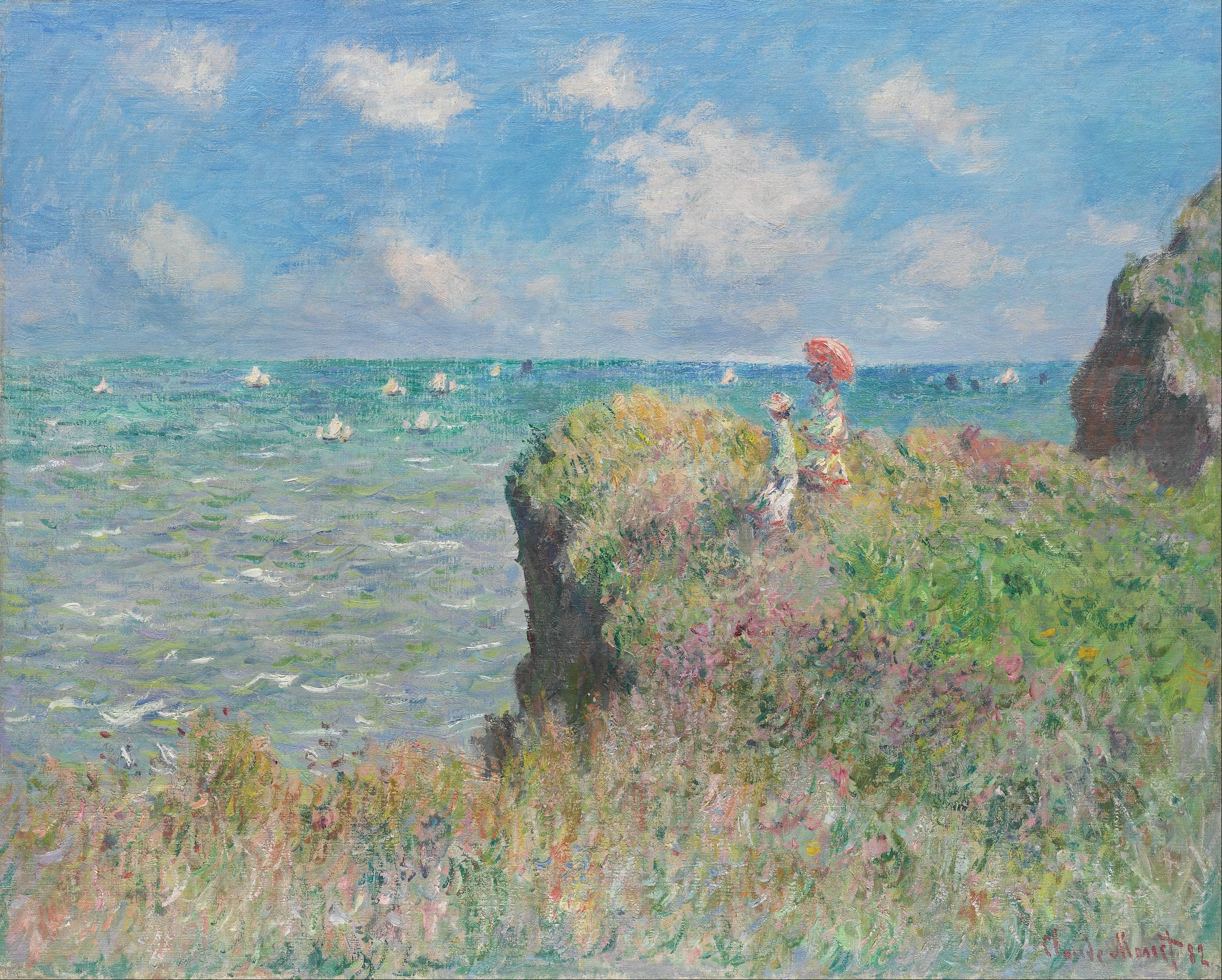Claude Monet Cuadros The Cliff Walk At Pourville Wikipedia