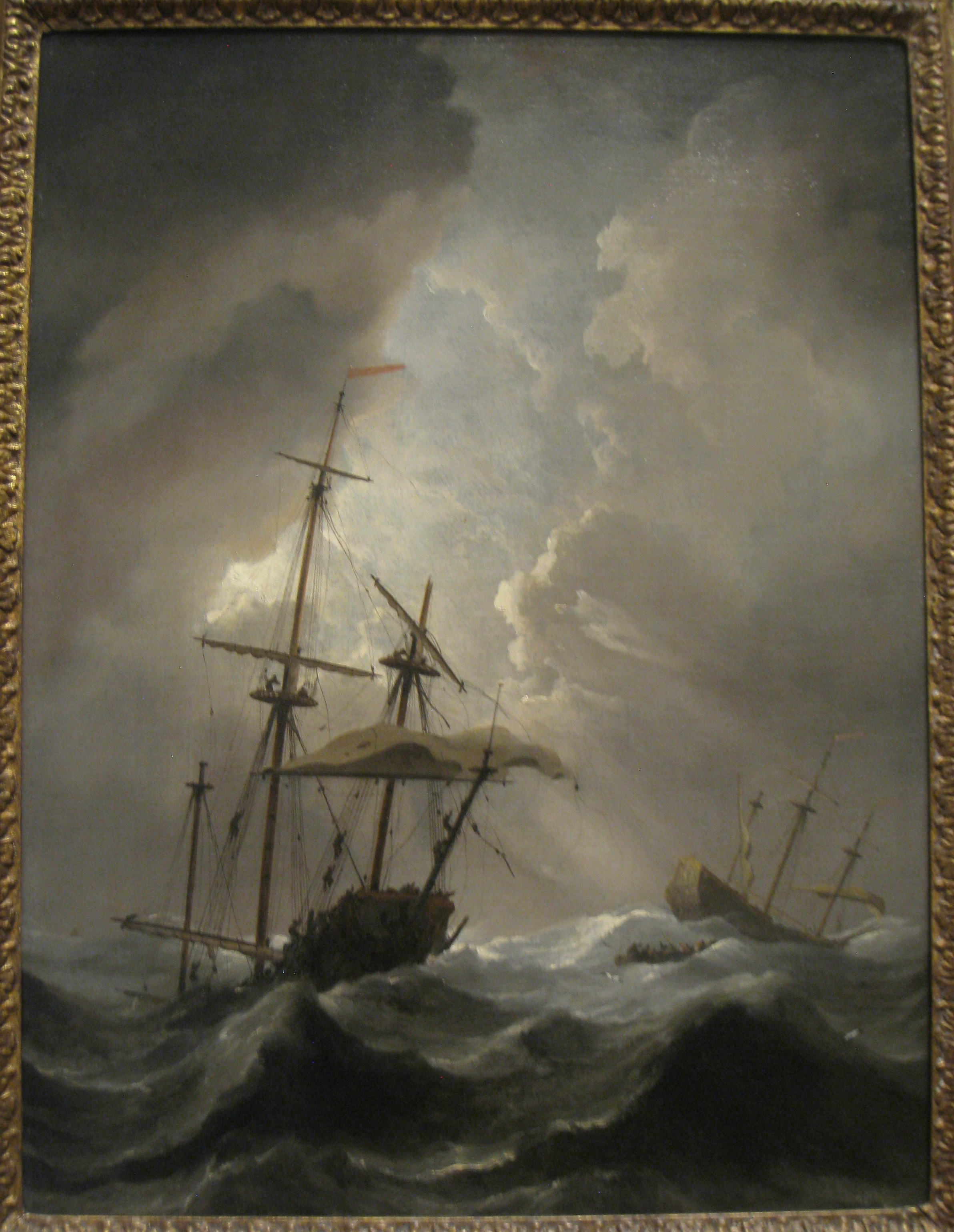 At Sea File Storm At Sea Willem Van De Velde The Younger 1633
