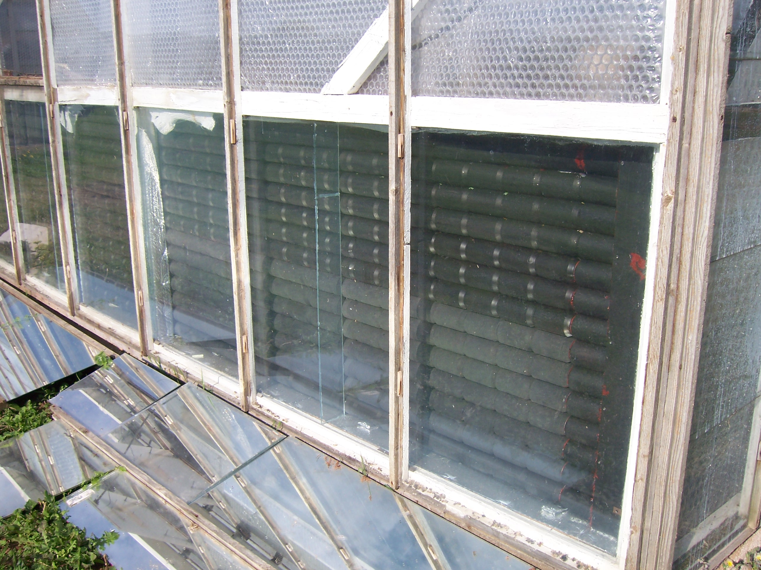 Diy Solar Panels Soda Cans File A Solar Greenhouse Heater Made Of Pop Cans