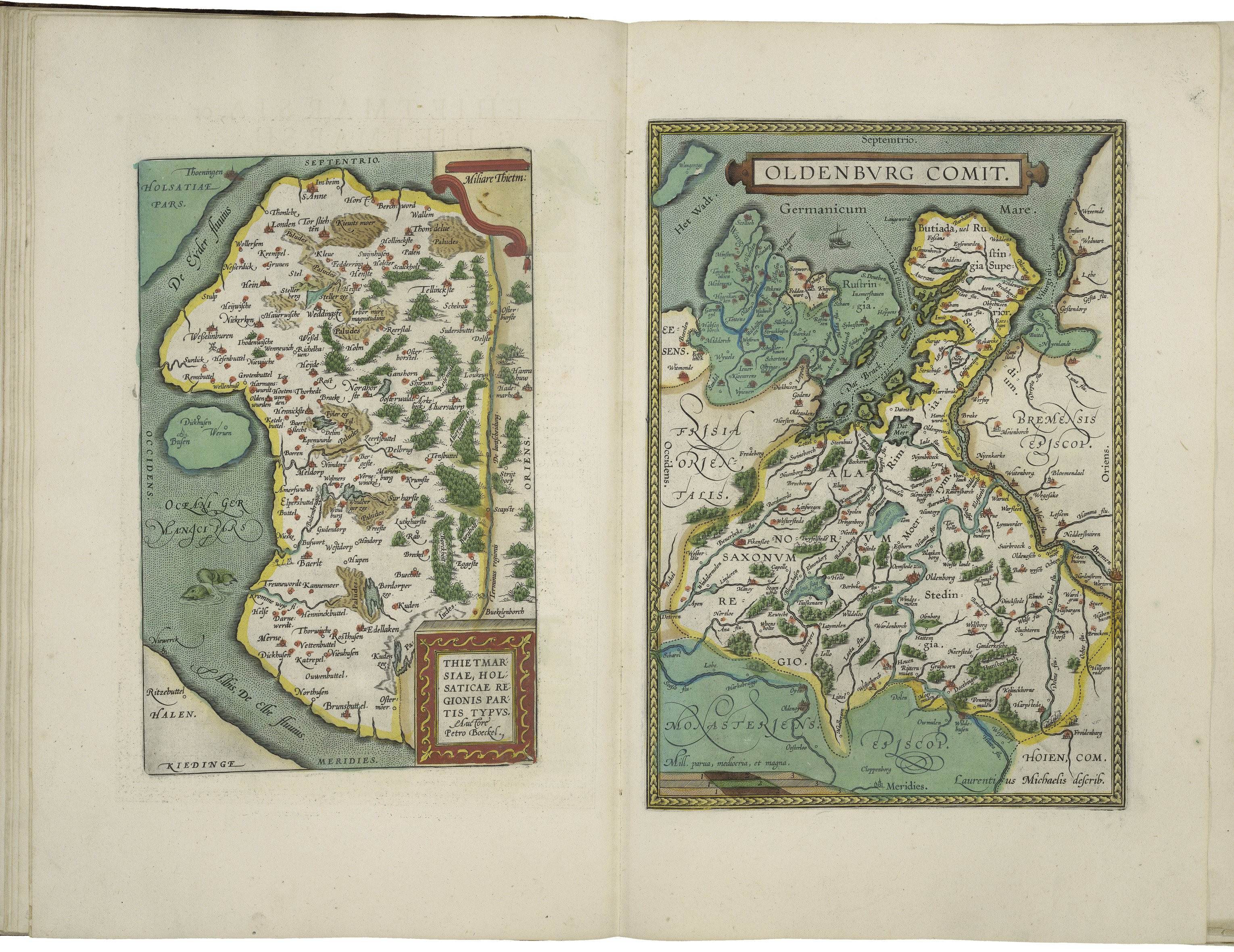 Maps Oldenburg File Maps Of Dietmarsh And Of Oldenburg By Abraham Ortelius Jpeg