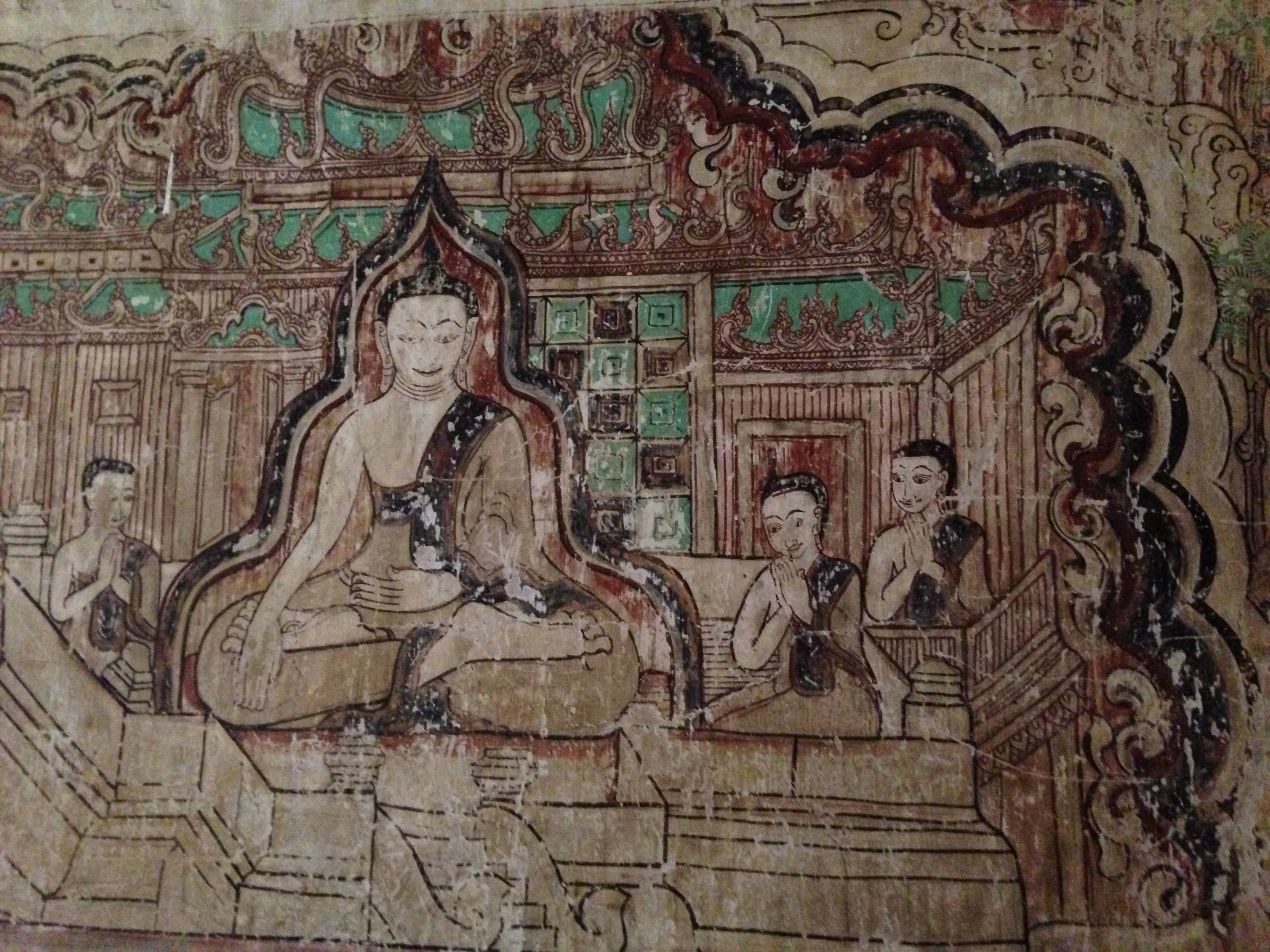 Fileancient Wall Painting Awakening Of Buddha Tanhankara