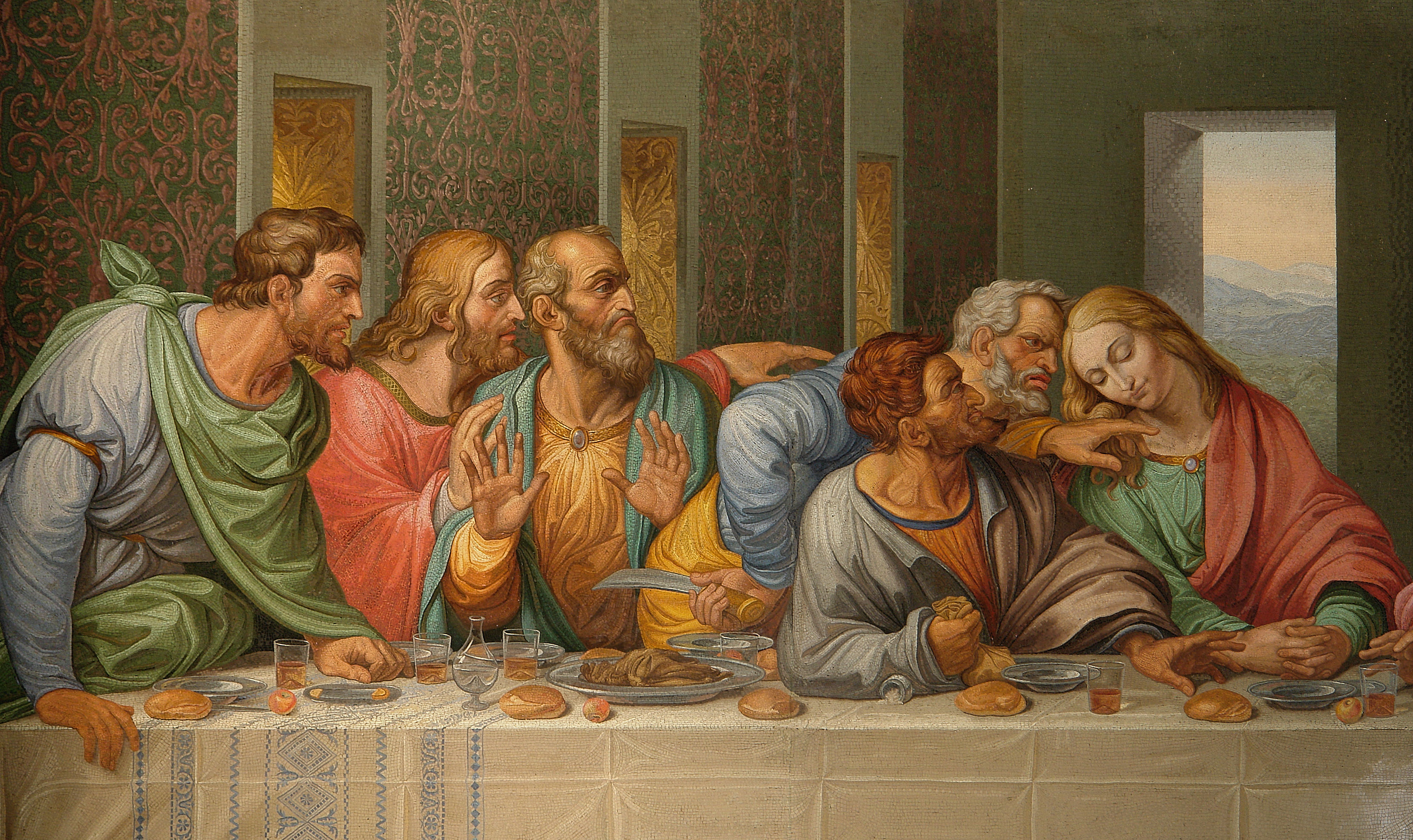 Cuadro De Leonardo Da Vinci La Ultima Cena File Detail Of The Da Vinci 39s The Last Supper By Giacomo