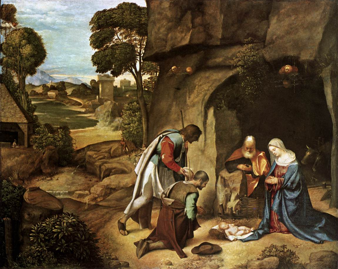 Pouring Pintura File Giorgione Adoration Of The Shepherds 01 Jpg