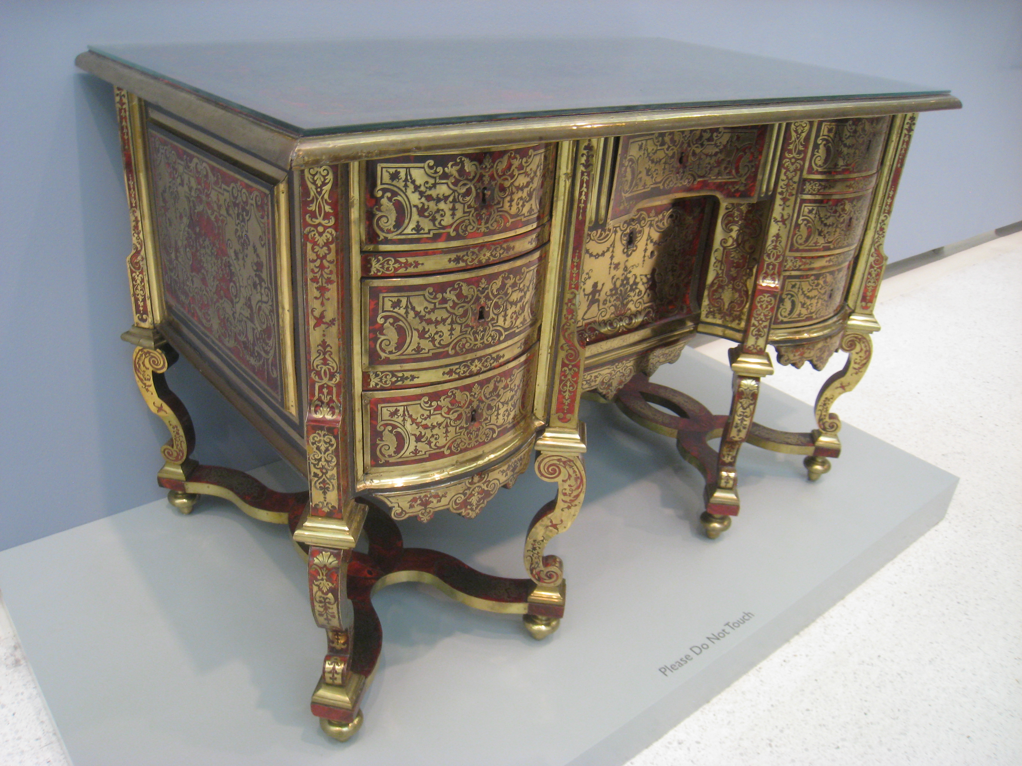 Bureau Meuble File:desk, Andre-charles Boulle Or Circle, C. 1690-1700