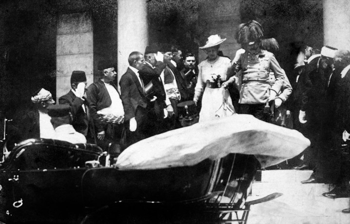 The Archduke and his wife Sofia in Sarajevo
