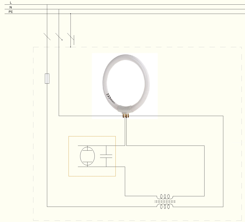 fluorescent circular wiring diagrams
