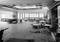 File:Fallingwater - Living Room from Kitchen - HABS PA,26 ...